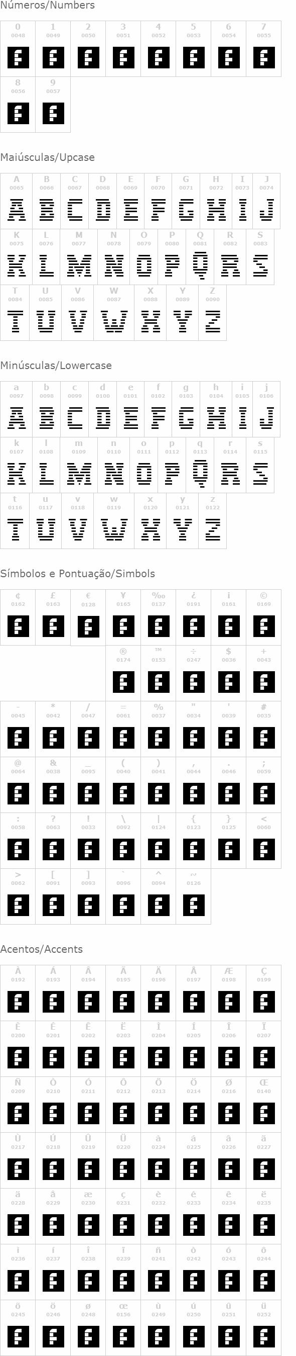 IBM Logo (IBM) font   netfontes com br